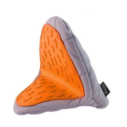 Rękawica kuchenna Vialli Design Livio szaro-pomarańczowa, 5901638720757