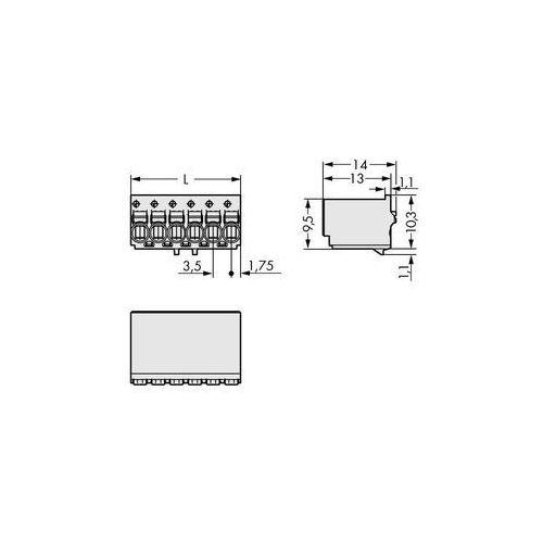 Wago Obudowa męska na pcb  2091-1125, raster: 3.50 mm, 200 szt. (4050821160786)