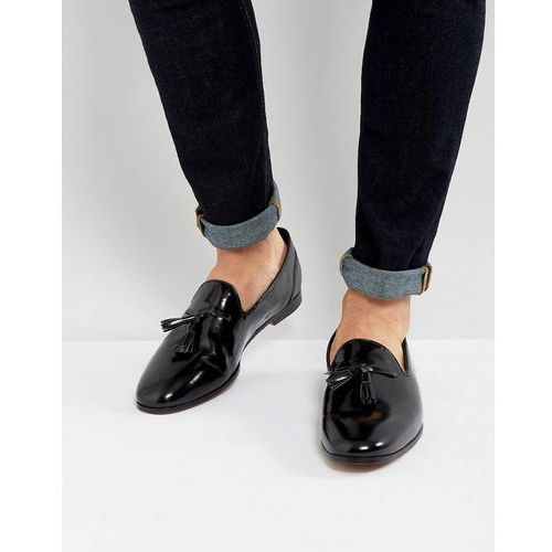 Frank Wright Tassel Loafers In Black Patent - Black