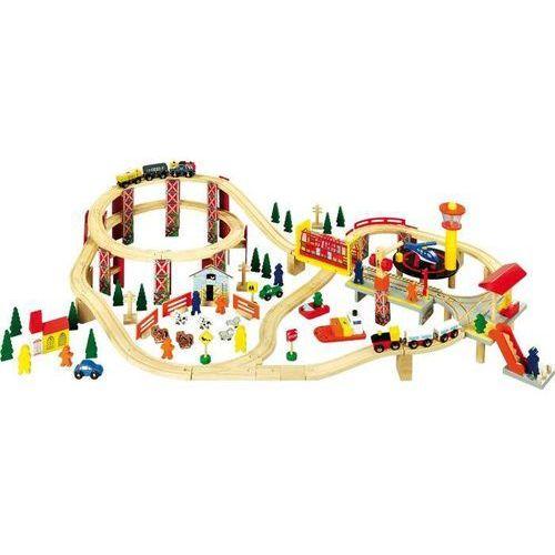 Small foot design Kolejka drewniana dla dzieci dzielnica przemysłowa 114 elementów