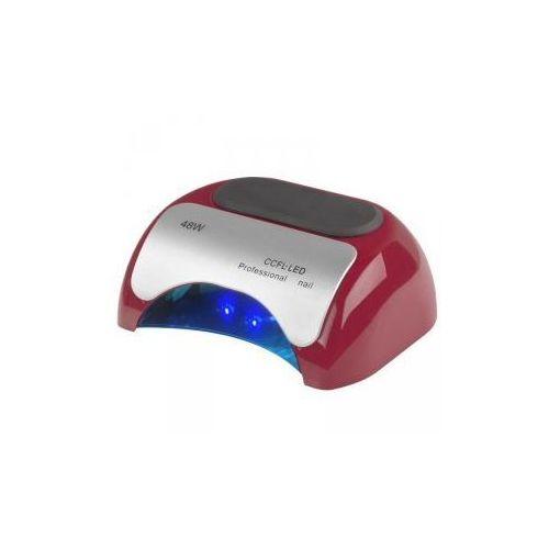 Lampa professional 2w1 uv led+ccfl 48w timer+sensor czerwona marki Vanity_a
