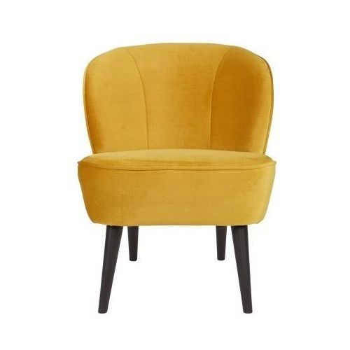 WOOOD:: Fotel SARA musztardowy - żółty, kolor żółty