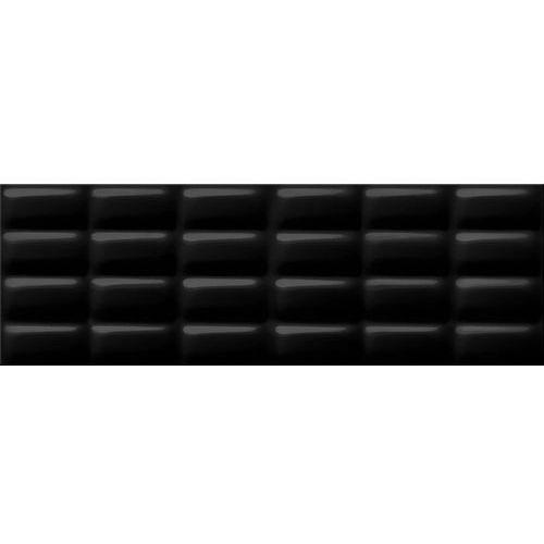 Opoczno Black glossy pillow struktura 25×75 gat.ii