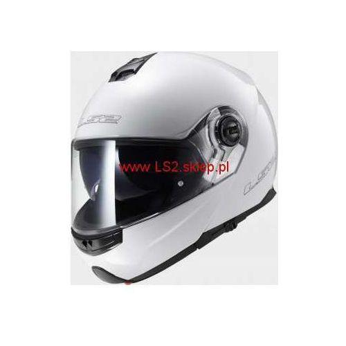 OKAZJA - Ls2 Kask motocyklowy szczękowy ff325 strobe solid - kolor biały połysk