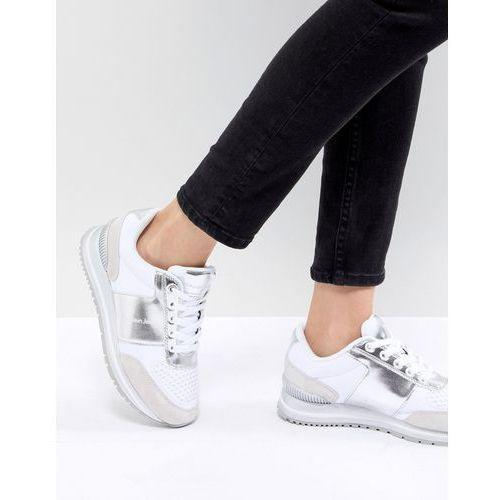tanya white and silver chunky trainers - white marki Calvin klein