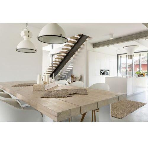 Stół drewniany SOMA - białe nogi ALUMINIOWE, D4AB-305B0