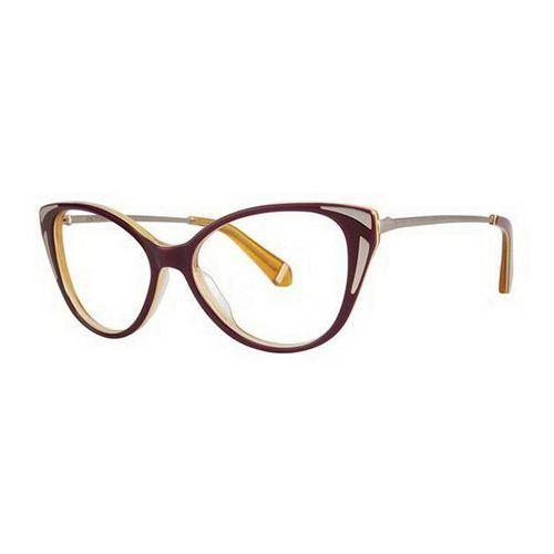 Zac posen Okulary korekcyjne fay maroon