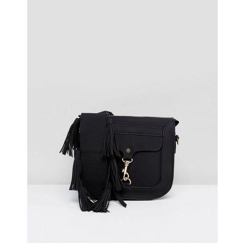 saddel bag with buckle detail - black marki Yoki fashion