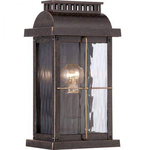 Zewnętrzna lampa ścienna hereford bl22/g klasyczny kinkiet metalowa oprawa ogrodowa ip43 outdoor czarna marki Elstead