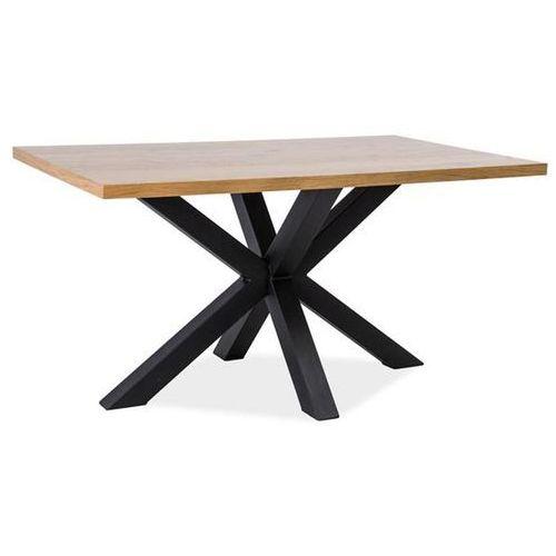 Stół cross - lite drewno dębowe - lity dąb/czarny - 150 i 180 cm x 90 cm - wysyłka gratis - loft marki Signal