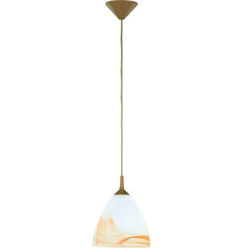 Lampa wisząca Alfa Bartek 9108 zwis oprawa 1x60W E27 biały/cappucino (5900458091085)