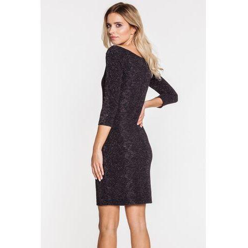 Dzianinowa sukienka z brokatowym połyskiem - Bialcon, 1 rozmiar
