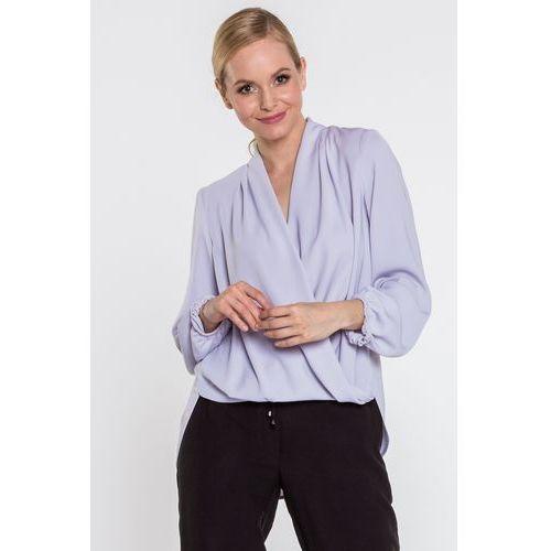 Kopertowa bluzka w kolorze szarym - Anataka