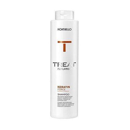 Montibello Keratin Force, szampon z proteinami roślinnymi odżywiający włosy delikatne 500ml (8429525112739)