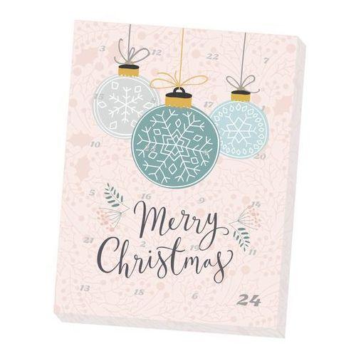 Kalendarz adwentowy z kawą i herbatą Merry Christmas - 12 wyjątkowych herbat + 12 kaw smakowych