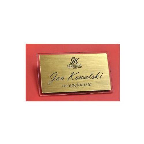 Eleganckie identyfikatory srebro, złoto drapane FU z kategorii Pozostałe artykuły biurowe