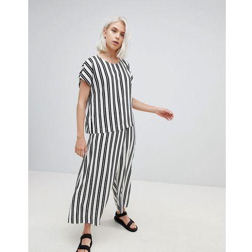 Weekday wide leg stripe trousers - multi