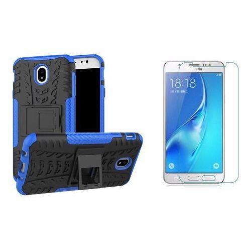 Zestaw | Perfect Armor Niebieski | Pancerna obudowa etui dla Samsung Galaxy J7 2017, kolor niebieski