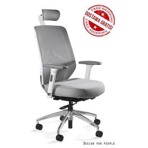Fotel Unique HERO biały-siatka-tkanina NOWOŚĆ,, Unique