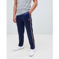 white line joggers with taping in navy - navy, Fila, S-M