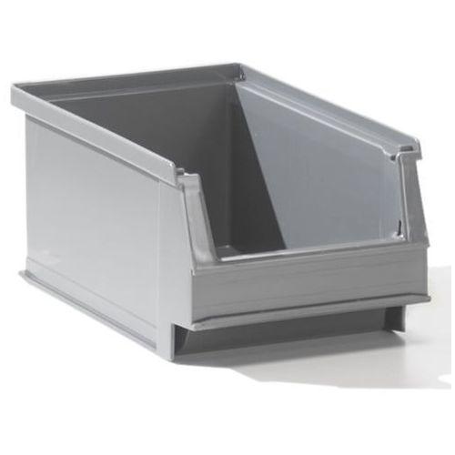 Przejrzysty pojemnik magazynowy z recyrkulowanego pe, poj. 0,8 l, szary, opak. 2 marki Lockweiler plastic werke