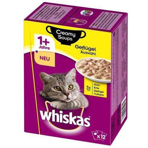 Whiskas 1+ creamy soup, 12 x 85 g - wybór rybny (4770608254537)