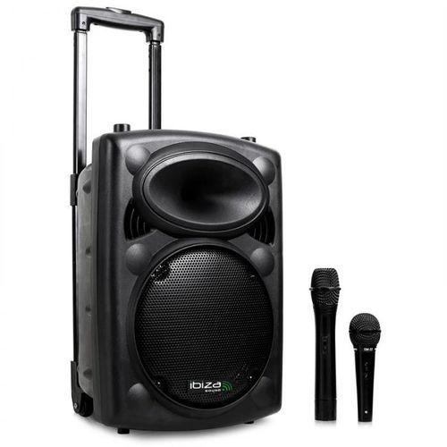 Ibiza Port10VHF-BT przenośna kolumna PA bluetooth USB-SD-MP3 500W