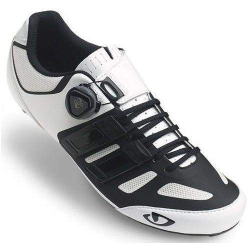 Giro sentrie techlace buty mężczyźni biały/czarny 44,5 2018 buty rowerowe
