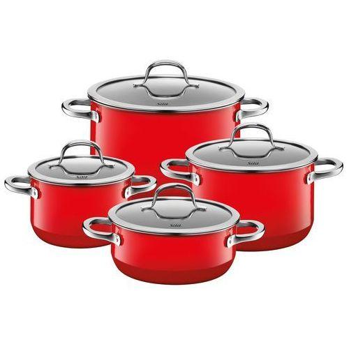 Silit 4-częściowy zestaw garnków passion red