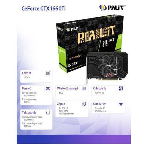 Palit GeForce GTX 1660 Ti StormX 6GB GDDR6 192 bit, NE6166T018J9-161F