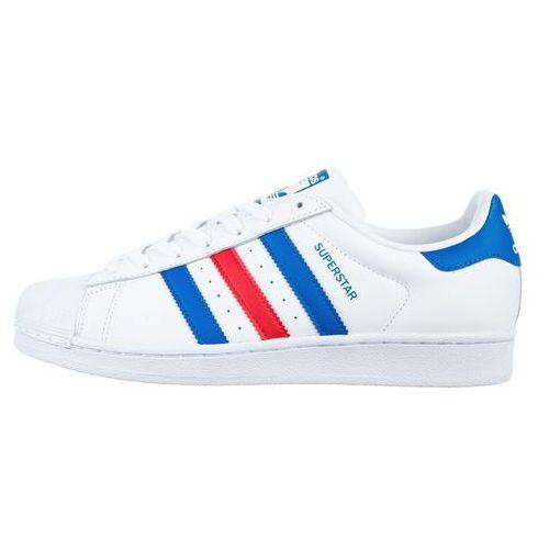 adidas Originals SUPERSTAR Tenisówki i Trampki white/blue/red, w 2 rozmiarach