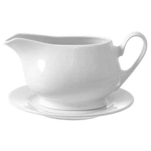 Fine dine Sosjerka porcelanowa bianco