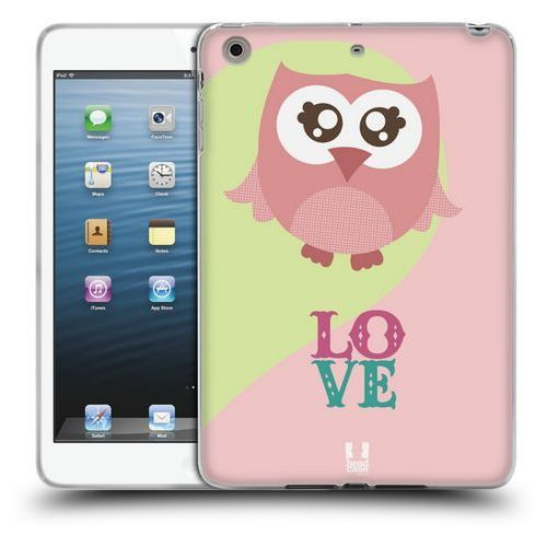 Head case Etui silikonowe na tablet - kawaii sówka różowa