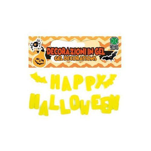 Carnival Świecąca w ciemności dekoracja żelowa napis happy halloween - 1 szt. (8004761091477)