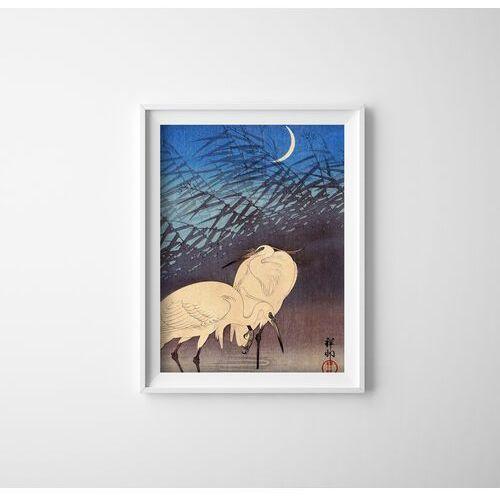Plakat vintage do salonu Plakat vintage do salonu Żurawie autorstwa Ohary Koson