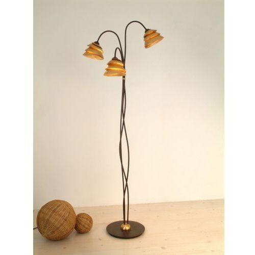 snail one lampa stojąca brązowy, złoty, 3-punktowe - klasyczny - obszar wewnętrzny - one - czas dostawy: od 2-3 tygodni marki Holländer