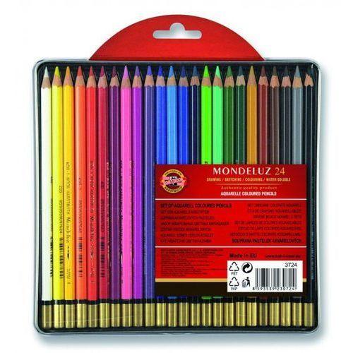 Kredki Mondeluz 24 kolory opakowanie metalowe