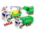 Auto Plastikowe Na Baterie Śmieciarka Dźwig 1:16 - Lean Toys (1818911181935)