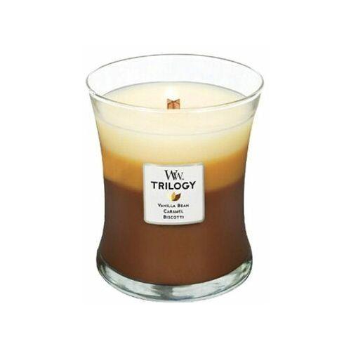 Woodwick świeca zapachowa Trilogy 275 g deser w kawiarni