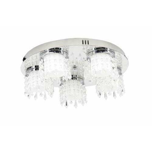 Krislamp Lira KR 404-5PL plafon lampa sufitowa 5x5W chrom/biały