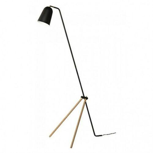 Frandsen lampa podłogowa giraffe czarna - nogi dębowe marki Sofa.pl