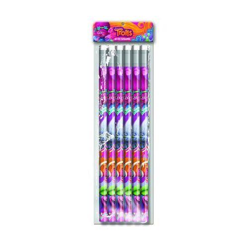 Cyp brands Zestaw ołówków 6 szt. trolle