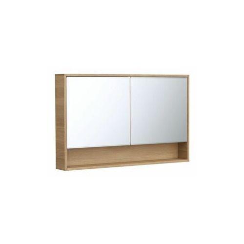 Szafka lustrzana bez oświetlenia natural 120 x 75 x 16 marki Sensea