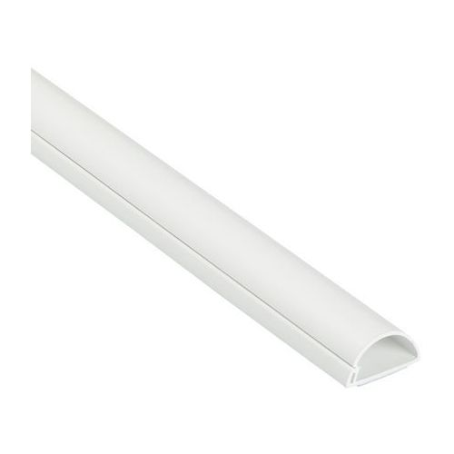 Listwa półokrągła na kable 30 x 15 x 1000 mm biała, 1D3015WSA