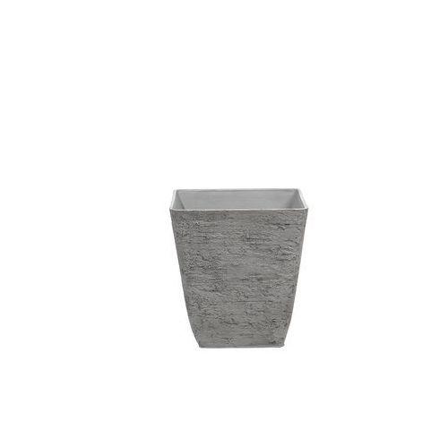 Blmeble Doniczka szara kwadratowa 39 x 39 x 43 cm girasole