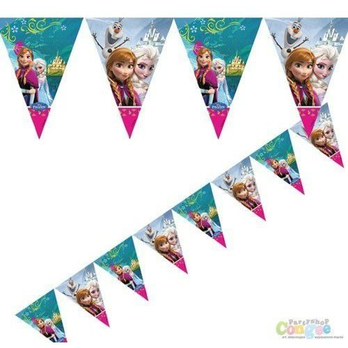Baner flagi Frozen - Kraina Lodu - 200 cm - 1 szt. z kategorii dekoracje i ozdoby dla dzieci
