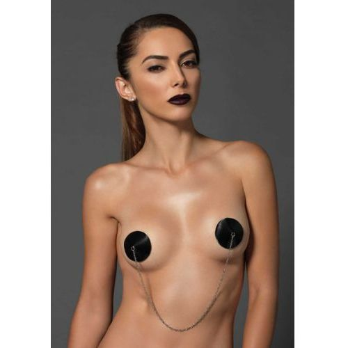 Legavenue Satin nipple covers with chain