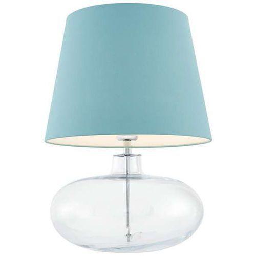 Stojąca LAMPA klasyczna SAWA 40584112 Kaspa stołowa LAMPKA biurkowa abażurowa do sypialni nocna przezroczysta morska