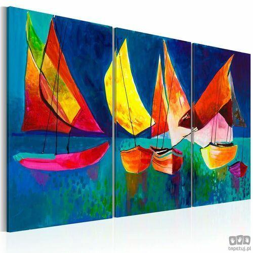 Obraz ręcznie malowany Kolorowe żaglówki, A0-N2627MK