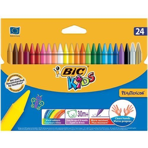 Kredki świecowe plastidecor®, 24 kolory - rabaty - porady - negocjacja cen - autoryzowana dystrybucja - szybka dostawa. marki Bic